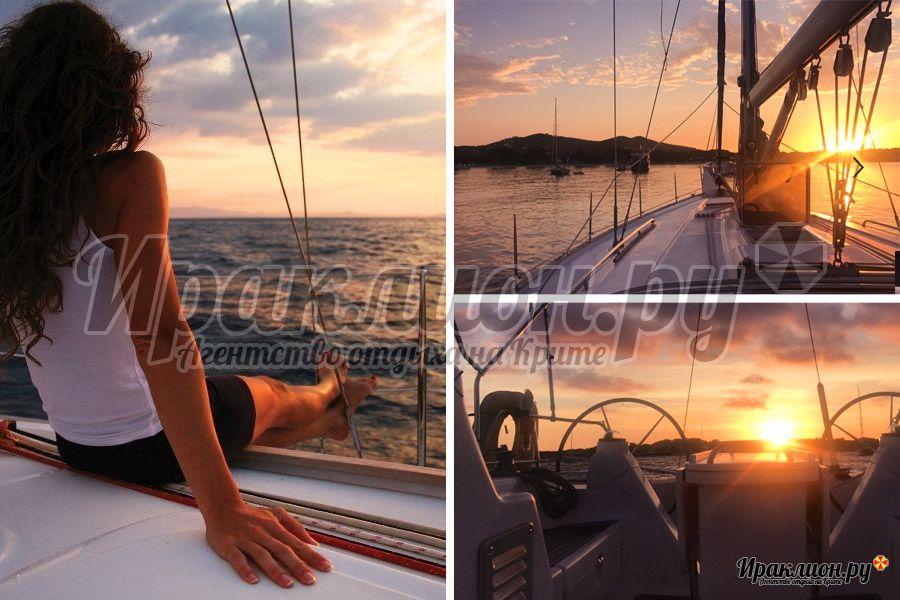 Путешествие на яхте на Санторини с Крита