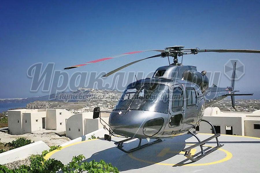 Перелёт с Крита на Санторини на вертолёте