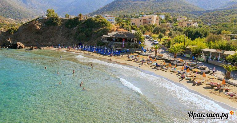 Посёлок Бали прекрасно подходят для спокойного отдыха у моря. Крит, Греция.