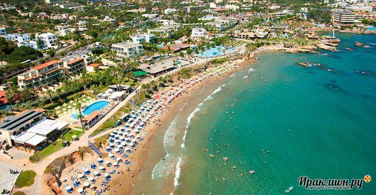 Херсониссос - один из самых популярных курортов на острове Крит, Греция.