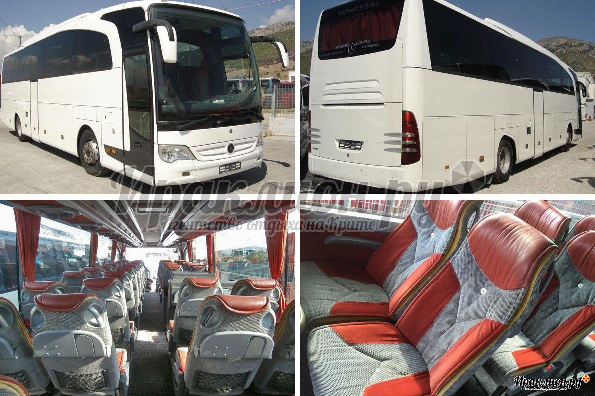 Аренда автобуса на 50 мест, Крит, Греция.