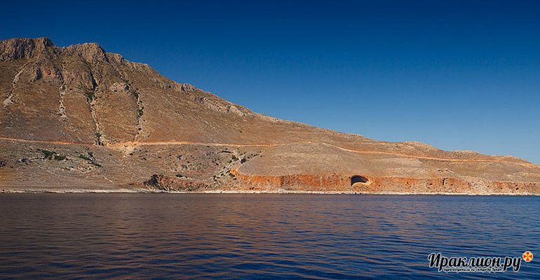 Древняя пещера тарсанас, Балос, Крит, Греция.