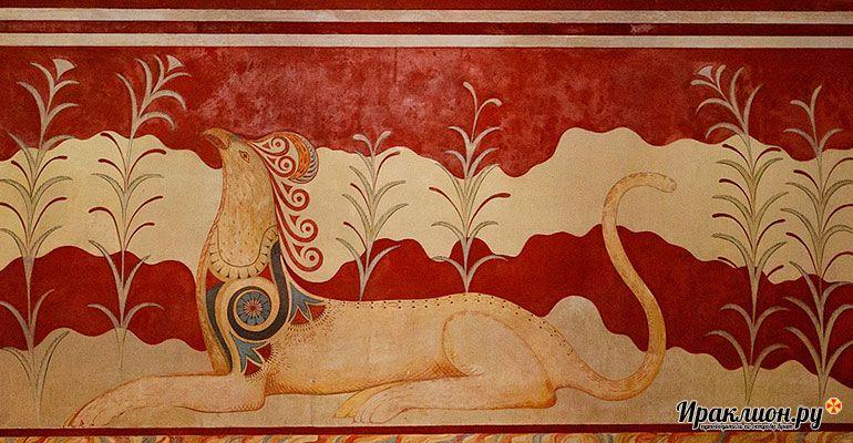 Росписи на стенах Кносса. Крит, Греция.