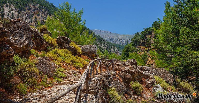 Дорога к выходу из Национального парка Белые Горы. Крит, Греция.