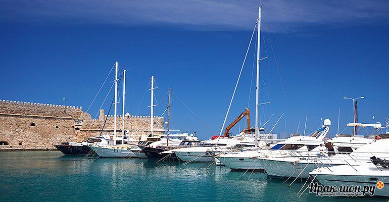 Морские путешествия, старая гавань у крепости Кулес, Крит