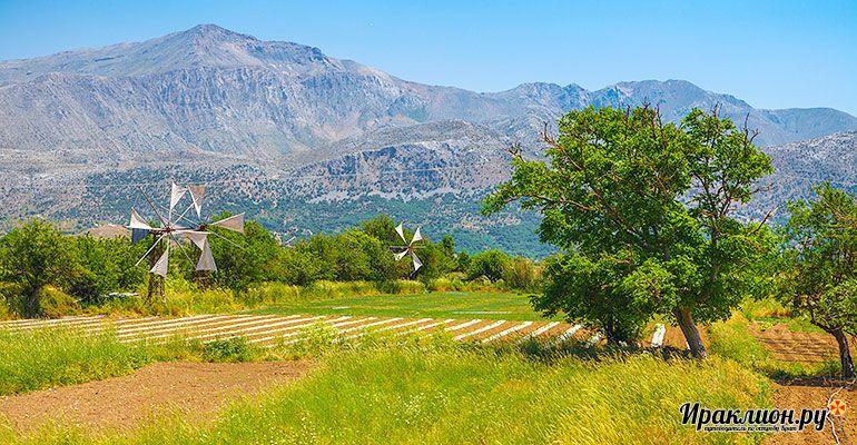 Поездка на плато Лассити и в пещеру Зевса. Крит, Греция.